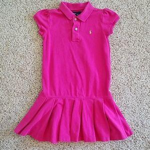 Ralph Lauren Pleated Dress Pink